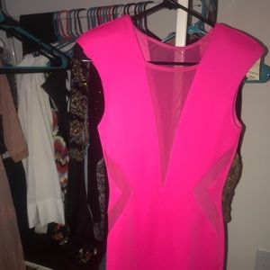"""Form fitting little """"bright rose"""" pink dress"""